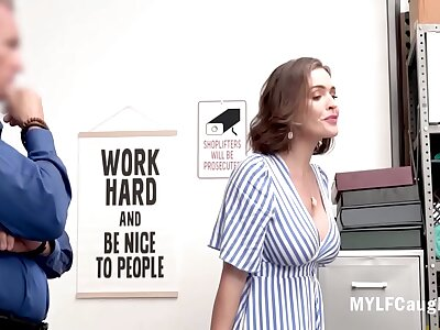 Order about Brunette MILF Steals Added to Hides Stuff Hither Say no to Ass- Krissy Lynn