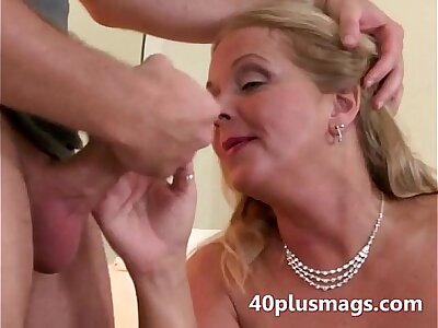 Chubby light-complexioned wife takes young stud