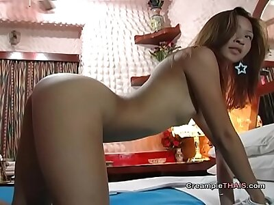 Cute 18yr venerable Thai creampie